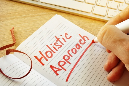 A note that reads Holistic Approach
